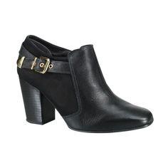 Bota Ankle Boot Usaflex S6008-12 - Preto (Caprina/Velour) - Calçados Online Sandálias, Sapatos e Botas Femininas | Katy.com.br