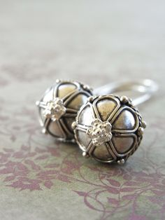 Balinese silver and bright sterling - the perfect everyday earrings! Yes Abigail I'm just that predictable