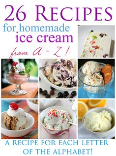 26 Homemade Ice Cream Recipes. Another easy recipe is 2 liters pop and 1 can of condensed milk. Put in an ice cream maker until you like it's texture and it's frozen enough for you.