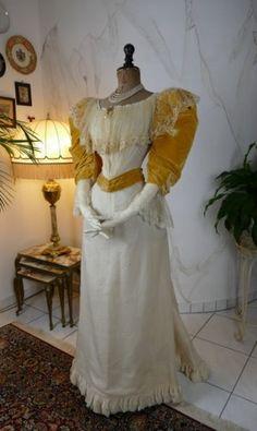 antique evening dress 1895