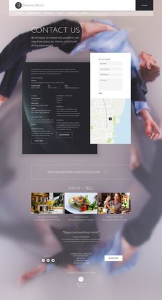 Drawing Room Restaurant Website on Behance