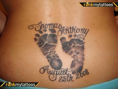 I am really looking to get a footprint tattoo in honor of my son Greyson - I like this style...