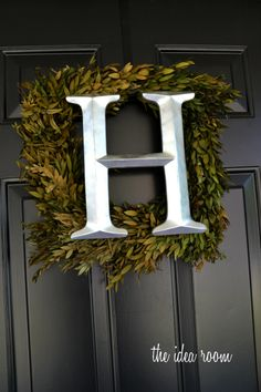 Make an Initial DIY Wreath for your in your home or to hang on your front door. One of the easiest wreaths I have made.