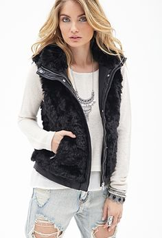 Paneled Faux Fur Vest | FOREVER21 - 2000083804 http://www.forever21.com/Product/Product.aspx?BR=f21&Category=outerwear_coats-and-jackets&ProductID=2000083804&VariantID= M