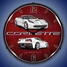 C7 Corvette Backlit Clock - Multiple Colors