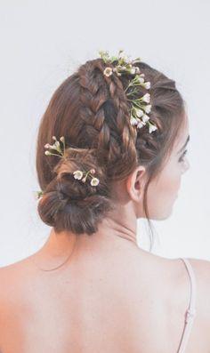 braided up do - boho bride