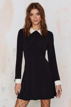 Nasty Gal Au Pair Mini Dress - Black - Dresses