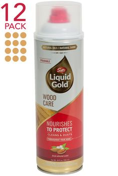 Scott's Liquid Gold & Touch of Scent Gold Touch, Liquid Gold, Gold Wood, Real Wood, Cleaning Supplies, Canning, Home Canning, Conservation
