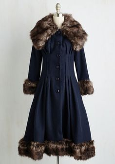 Luxe-y in Love Coat in Navy $269.99 AT vintagedancer.com