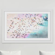 Parvez Taj Fun And Sun' by Parvez Taj Framed Painting Print