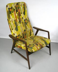 Mid-Century Folke Ohlsson DUX Recling Chair with Ottoman | From a unique collection of antique and modern lounge chairs at https://www.1stdibs.com/furniture/seating/lounge-chairs/