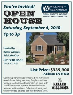 Open House Psd Flyer Template   Real Estate Ref