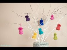 DIYer demonstrates how to make yarn hat ornaments | SF Globe