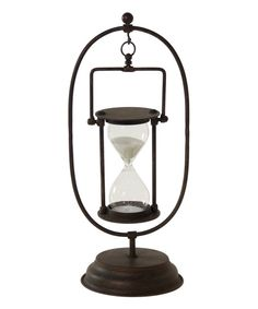 Look at this Metal Hourglass & Stand on #zulily today!