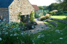 Guernsey — Dan Pearson Studio zídky na cestičky do sadu Garden Landscape Design, Landscape Architecture, Dan Pearson, Sloped Garden, Terraced Garden, Garden Steps, Contemporary Garden, Natural Garden, Modern Landscaping