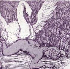 Leda et le Cygne - Ernest Fuchs. Сим примером научитесь, Розы, девы красоты…