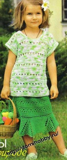 filles 3 crochet girl's skirt