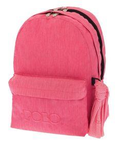 ΣΑΚΙΔΙΟ ORIGINAL POLO DOUBLE SCARF JEAN STYLE ΡΟΖ 9-01-235-94 School Bags, Jeans Style, Polo, The Originals, Polos, Tee, Polo Shirt, School Tote Bags