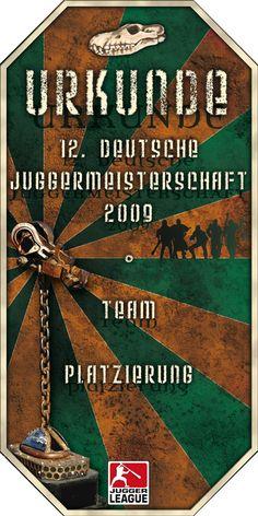 Urkunde 12. Deutsche Meisterschaft 2009