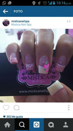 French Manicure Nails, My Nails, Long Acrylic Nails, Pedicure, Nail Colors, Finger, Nail Designs, Nail Polish, Nail Art