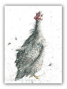 ACS017 - 'Guinea Fowl' | Wrendale Designs