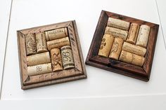 Crafts for Wine Corks  DIY Coaster Kits  made from reclaimed wood #eco #decor