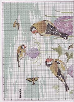 "Photo from album ""Cross Stitch Collection 173 on Yandex. Just Cross Stitch, Cross Stitch Needles, Cross Stitch Cards, Cross Stitch Baby, Cross Stitch Animals, Cross Stitch Flowers, Cross Stitching, Bird Embroidery, Cross Stitch Embroidery"