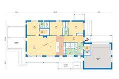 Taloautomaatio.fi Hyvinkään asuntomessuilta. Herrala/koskinen arkkitehtisuunnitelijana. Floor Plans, Diagram, Floor Plan Drawing, House Floor Plans