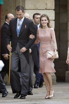MYROYALSHOLLYWOOD FASHİON:  King Felipe and Queen Letizia attended the first anniversary of the train derailment at Santiago de Compostela at the Cathedral of Santiago de Compostela, July 25, 2014