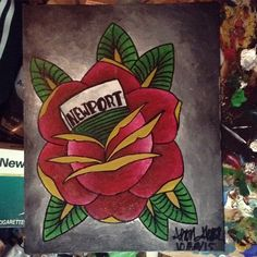 #traditionalrose #art #acrylic #painting