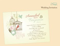 Birdcage Wedding Invitations.  #birdcagewedding #weddinginvites