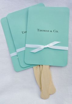 Tiffany Blue Wedding | Tiffany Blue Wedding Fans | by Abbey and Izzie Designs