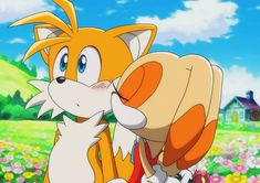 Flowers and a Kiss - Tails and Cream by on DeviantArt Cream Sonic, Sonic The Hedgehog, Game Sonic, Sonic And Shadow, Sonic Fan Art, Happy Tree Friends, Fox Art, Stark, Game Character