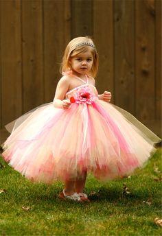 2015 Tulle Wedding Dresses For Girls Rainbow Colored Flower Girls Dresses Halter Blush Pink Blue 2015 Gown Children Birthday Party Dresses Flower Girl Dress Sash Flower Girl Dress Sewing Patterns From Idobridal, $75.2| Dhgate.Com