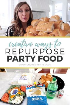 If you've known me for 30 seconds or longer you know we LOVE to host parties and entertain at our house. Food family friends and funwhat's not to love? But when the party is over what the heck are you supposed to do with all that leftover party food? Rib Recipes, Oven Recipes, Cream Recipes, Turkey Recipes, Pork Chop Recipes, Baby Food Recipes, Cooker Recipes, Crockpot Recipes, Soup Recipes