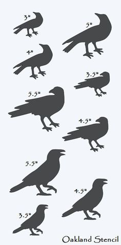 Primitive Crows STENCIL with 9 Crows Total different Different Sizes** for Painting Signs, Airbrush, Crafts, Wall Decor - Top-Trends Primitive Crafts, Country Primitive, Wood Crafts, Primitive Signs, Primitive Snowmen, Primitive Christmas, Country Christmas, Christmas Snowman, Fabric Crafts