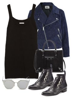 """""""Untitled #10867"""" by theleatherlook ❤ liked on Polyvore featuring Acne Studios, Zara, Balenciaga, Tabitha Simmons and GANT"""