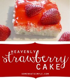 Heavenly strawberry cake recipe yes please! The post Easy Strawberry Cake The BEST Strawberry Cake Recipe appeared first on Daisy Dessert. Best Strawberry Cake Recipe, Strawberry Desserts, Köstliche Desserts, Delicious Desserts, Dessert Recipes, Yummy Food, Cupcakes, Cupcake Cakes, Yummy Treats