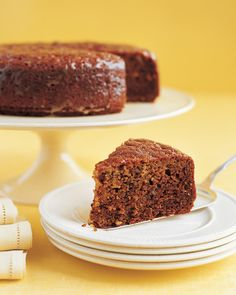 There's nothing fancy to prepare here -- just one layer of cake -- but the fragrant toasted walnuts and sweet honey make it extra sophisticated.