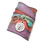 Tree of Life Silk Ribbon Bracelet $34.00  charmeddesign1012..., $34