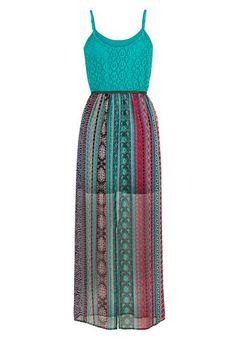 crochet top belted chiffon maxi dress - maurices.com