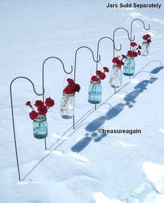 Mason Jar Shepherd Hooks RESERVED by treasureagain on Etsy