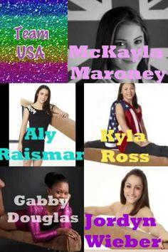 Keep calm and love the fierce five! Gabby, Mckayla, Aly, Kyla and Jordyn