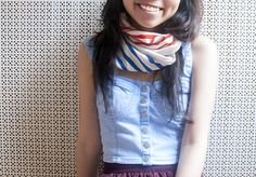 No Sew Infinity Scarf  •  Free tutorial with pictures on how to make a silk scarf in under 60 minutes
