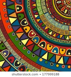 Illustration about Colored tribal design, abstract art. Illustration of geometric, batik, backdrop - 38303680 Mandala Art, African Tribal Patterns, African Textiles, African Colors, African Fabric, African Art Paintings, African Abstract Art, African Artwork, Afrique Art