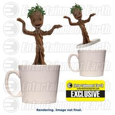 Start Your Day Right With The Baby Dancing Groot Figural Mug