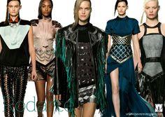 Rodarte,Looks para princesas guerreras con un toque futurista