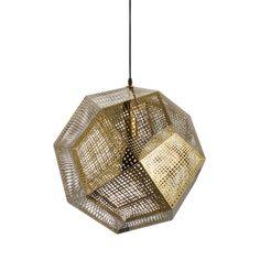 Honeycomb Pendant in Gold | dotandbo.com