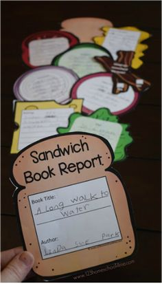 FREE Sandwich Book Report - this is such a fun, clever, and unique free printable book report idea! Print in color or black and white, perfect for kindergarte Book Report Projects, Reading Projects, Book Projects, First Grade Projects, 2nd Grade Crafts, 4th Grade Ela, 4th Grade Reading, 3rd Grade Books, First Grade Reading Comprehension