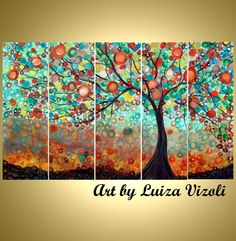 SALE Original Large Whimsical OLIVE Tree Painting Huge Boho Fantasy Landscape Made to ORDER- Reduced Price for Limited Time by LUIZAVIZOLI on Etsy https://www.etsy.com/listing/157739176/sale-original-large-whimsical-olive-tree